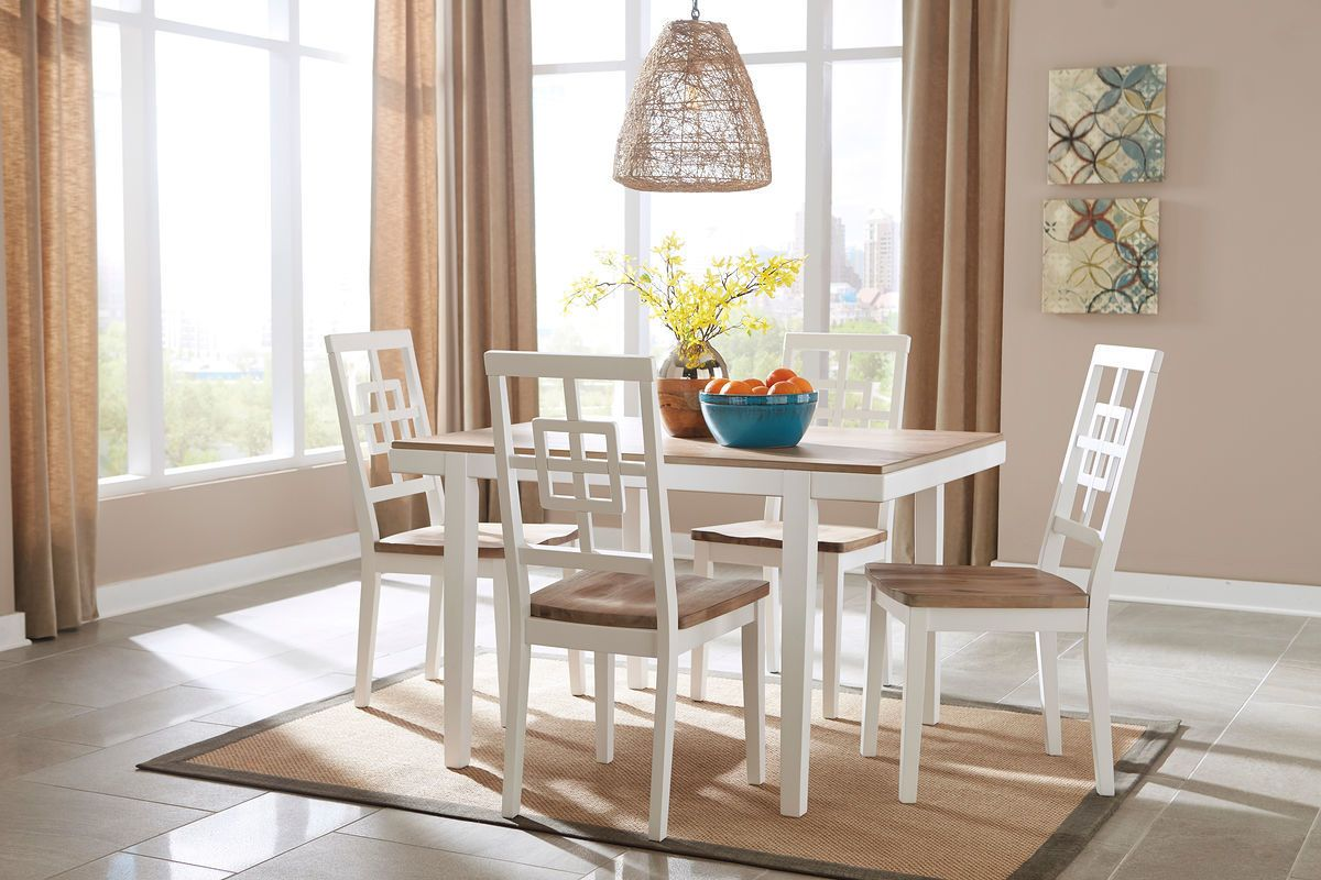 The Brovada Two Tone Rectangular Dining Room Table Set Sold At Spokane Furniture Serving