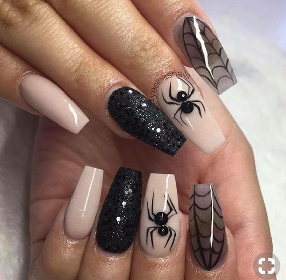 There Are 65 Newest And Creative Halloween Nail Art Designs 2018 Hope They Can Inspire You An Cute Halloween Nails Halloween Nails Easy Halloween Nail Designs