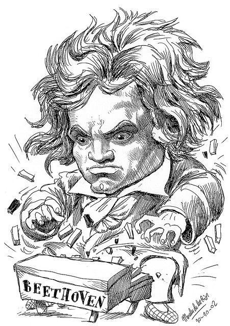 BEETHOVEN, by Morales de los Ríos | Musical art, Caricature, Drawings
