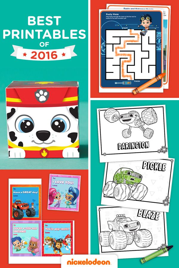 The Best Nick Jr. Printables of 2016 | Printables, Play & Learning ...