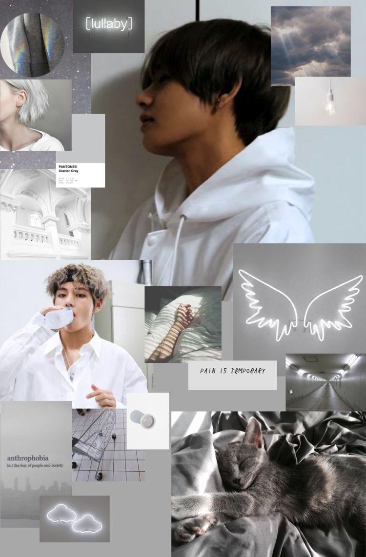 Grey V Aesthetic Bts Taehyung Grey Bts taehyung aesthetic wallpaper