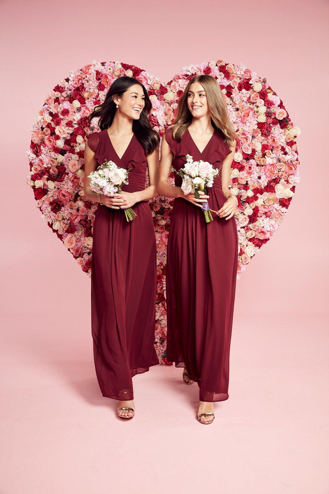 long flowy bridemaids dresses