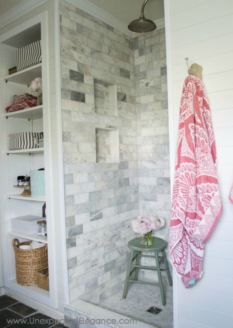 4 inexpensive tricks to give your tiled shower a custom