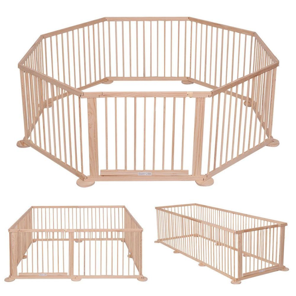 Baby Playpen Height Baby Children Kid Solid Pine Wood Made Playpen Room Divider