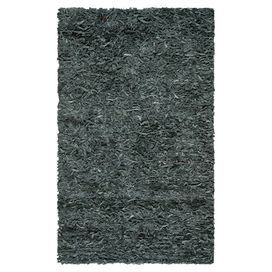 Leather shag rug in grey. Hand-knotted in India.  Product: RugConstruction Material: LeatherColor: GreyFeatures:  Made in IndiaHand-knotted  Note: Please be aware that actual colors may vary from those shown on your screen. Accent rugs may also not show the entire pattern that the corresponding area rugs have.Cleaning and Care: Professonal cleaning recommended
