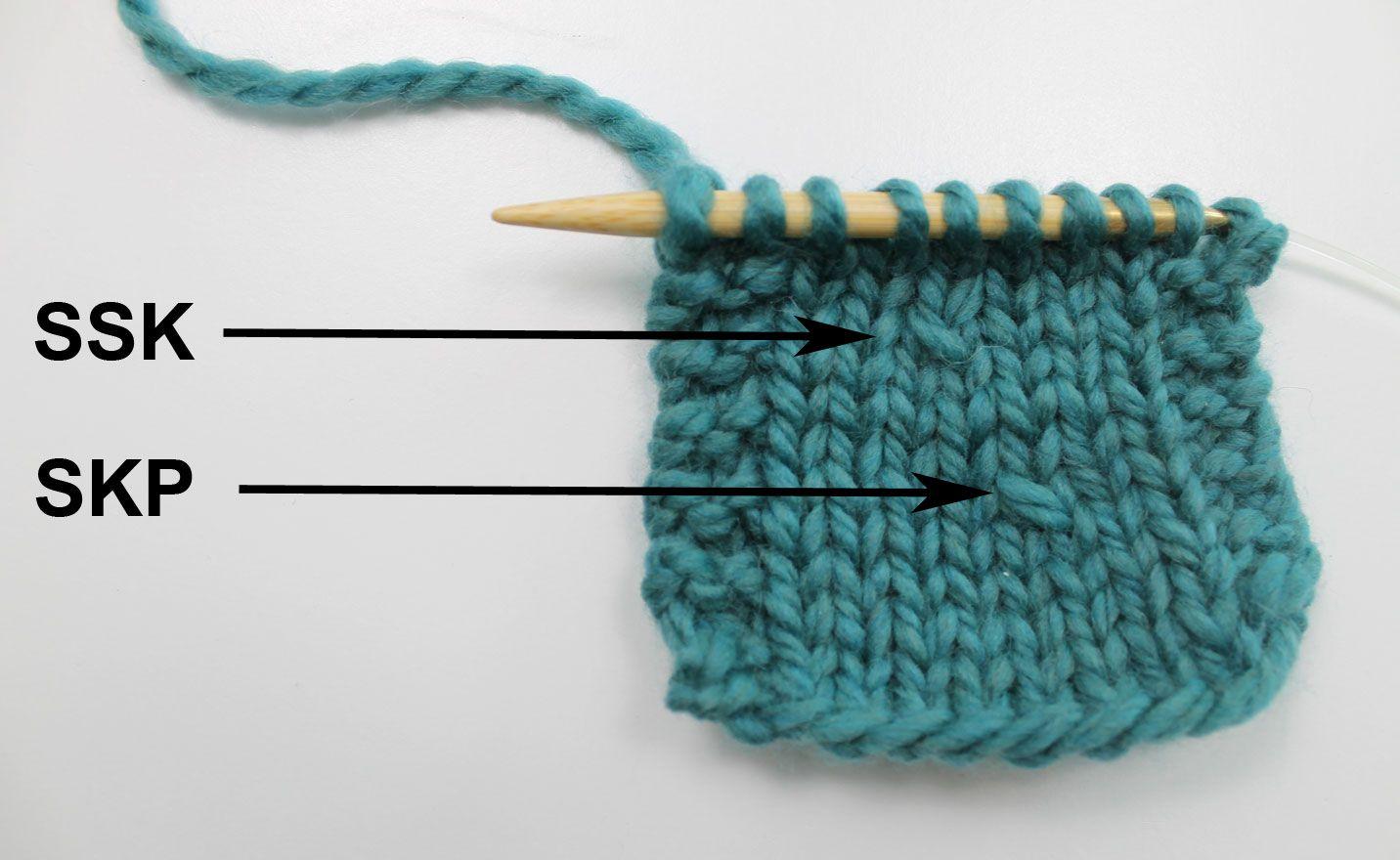 SKP in Knitting: Slip, Knit, Pass Decrease Stitch | Stitch, Create ...