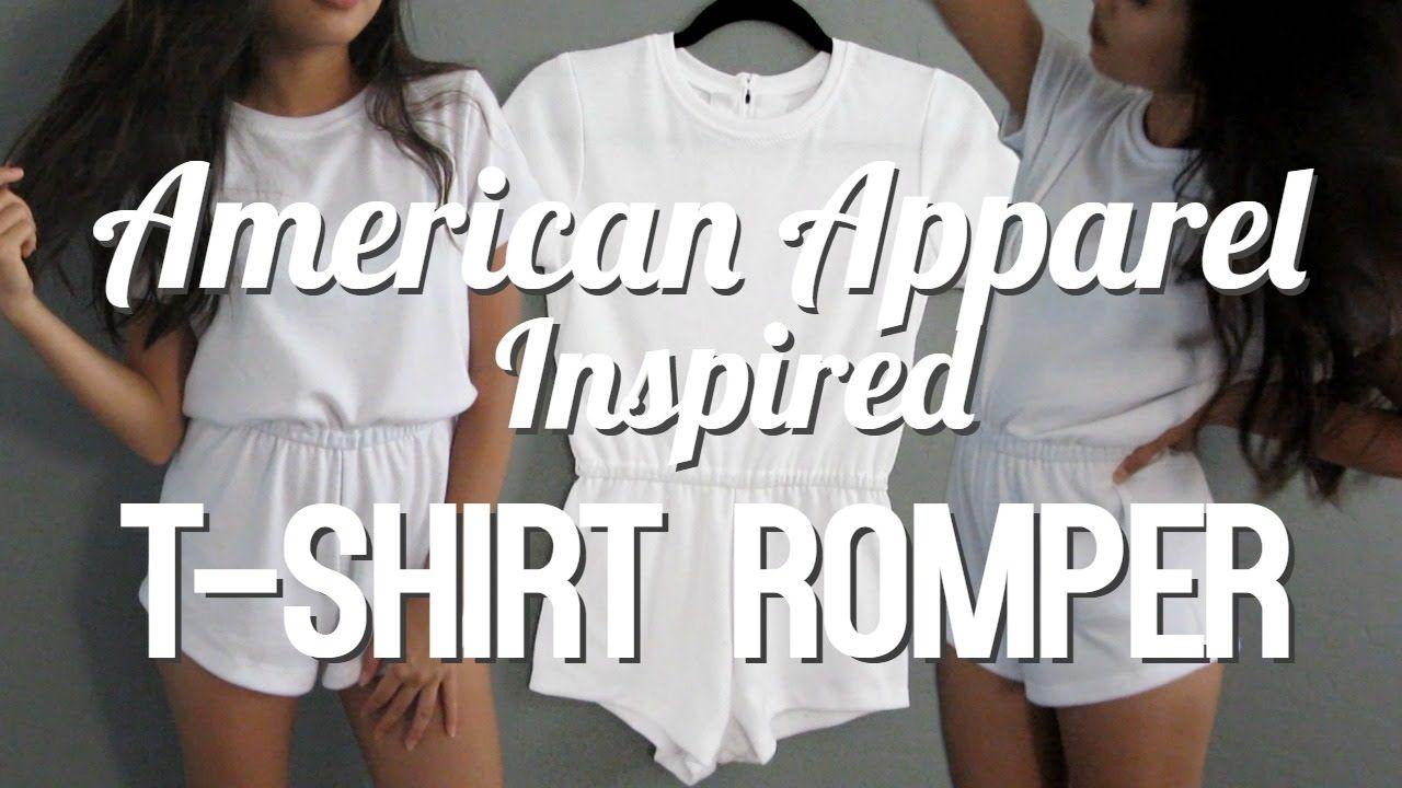 DIY   T-Shirt Romper [American Apparel Inspired]