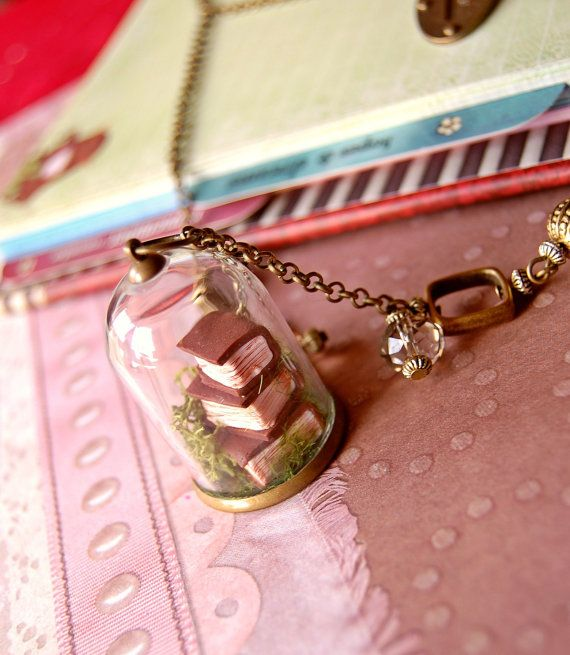 antique mini so cute antique mini book pendant necklace giveabook