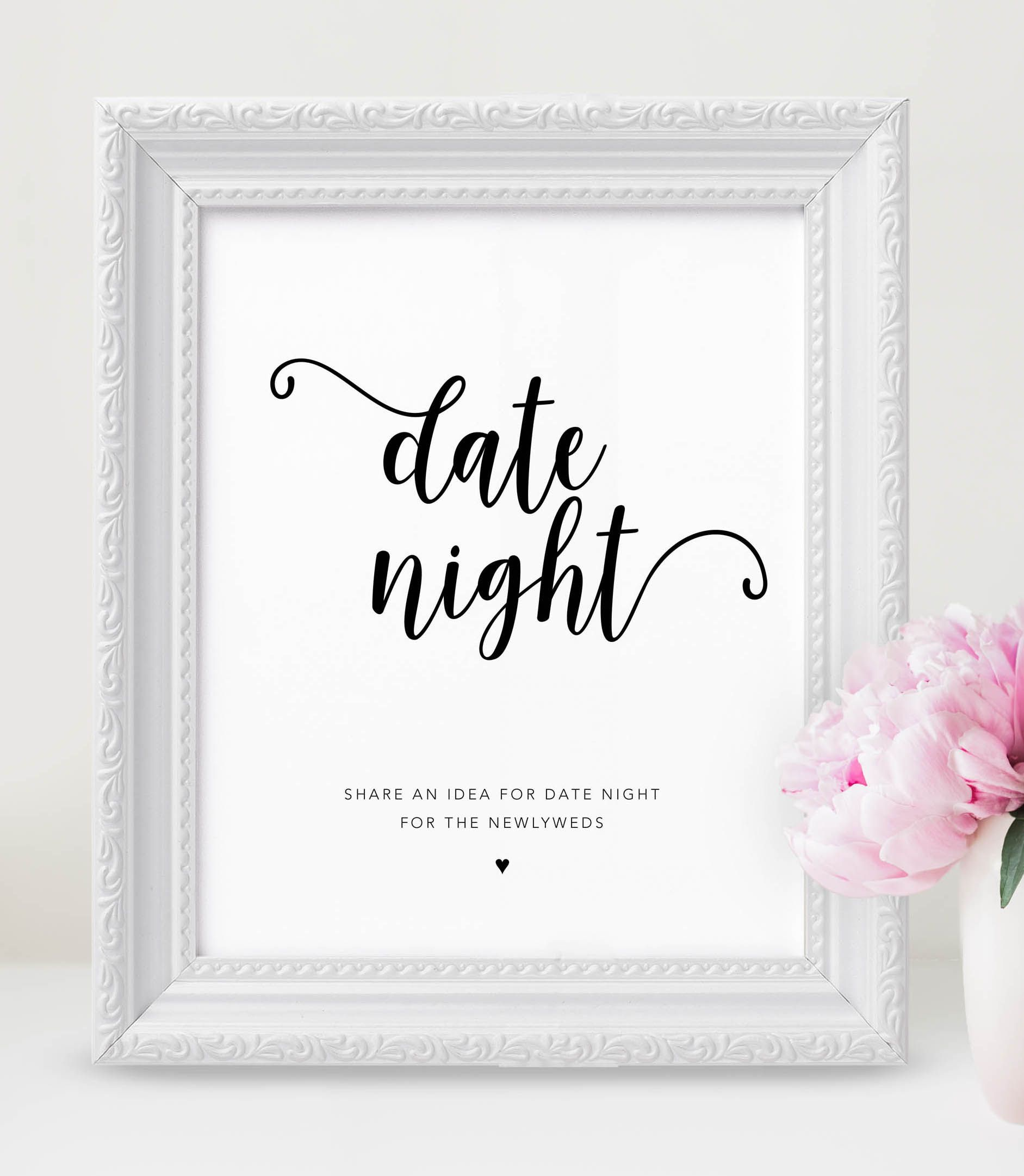 photo about Date Night Jar Printable identified as This day evening jar indication can be shown at your marriage ceremony