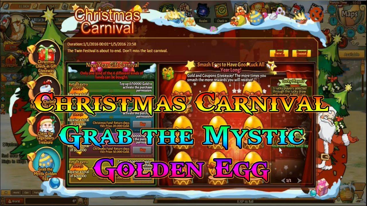 Anime Ninja Christmas Carnival Grab The Mystic Golden Egg Naruto G Anime Ninja Christmas Carnival Golden Egg