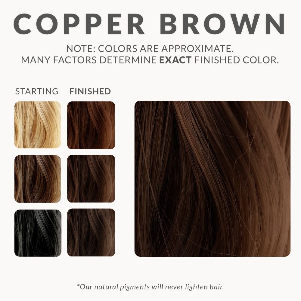 Copper Brown Hair Color Chart Best Hair Color For Dark Skin