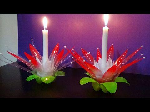 Diy Transform A Soda Bottle Into A Vase Youtube Faroles Con Botellas Manualidades Navidenas Faroles De Navidad