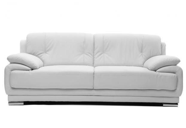 Canapé cuir design blanc 3 places TAMARA