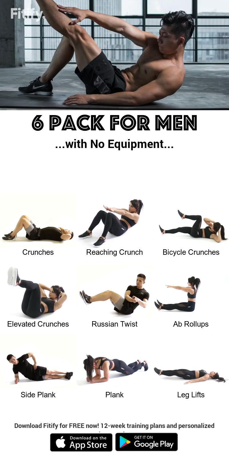 Six-Pack for MEN with NO Equipment
