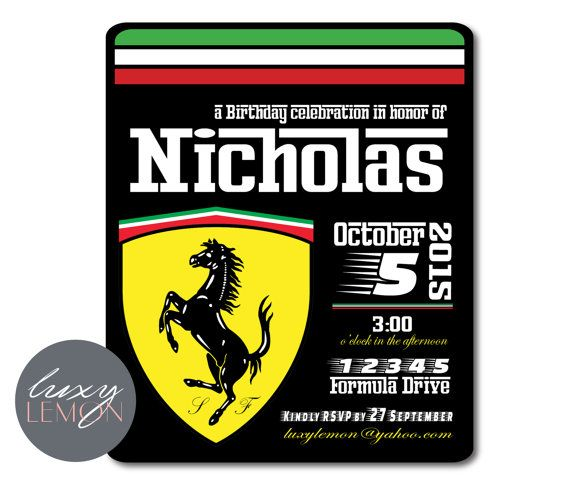 exotic cars birthday invitations Google Search Exotic Cars
