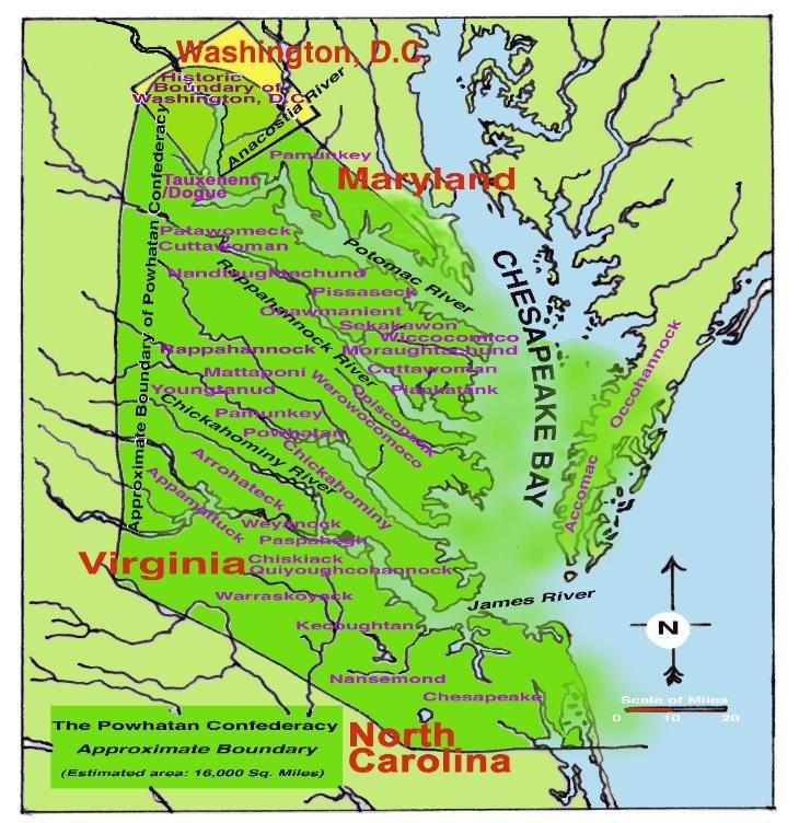 Va Native Plant Society: Powhatan Territorial Map