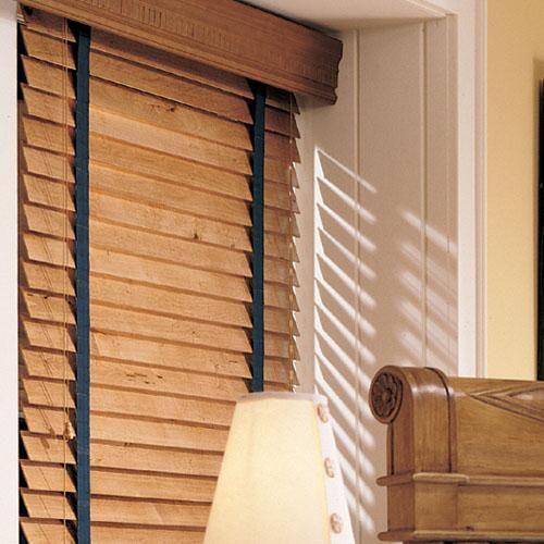 Levolor 2 Inch Premium Wood | Wood blinds, Living room ...