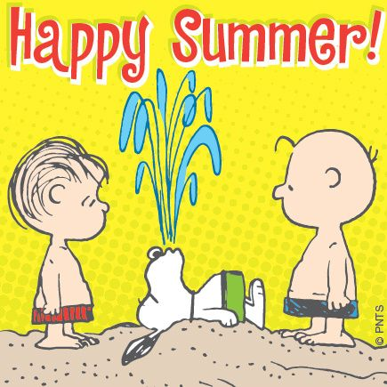 PEANUTS on  Snoopy and Happy summer