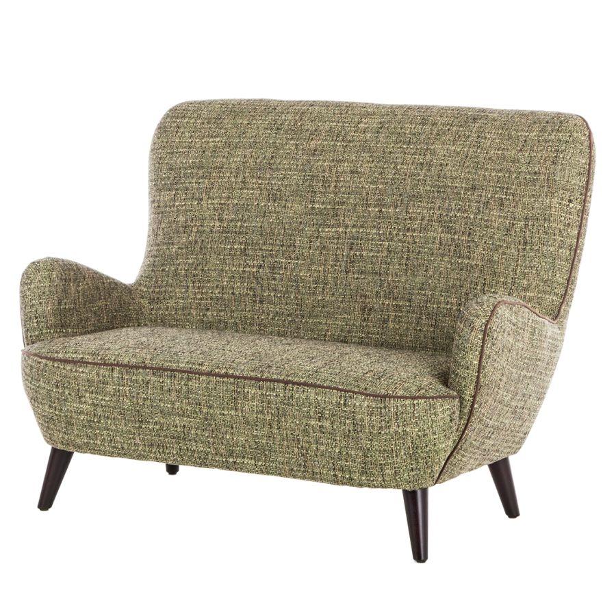 Sofa Cholet (2-Sitzer) - Strukturstoff Hellgrün