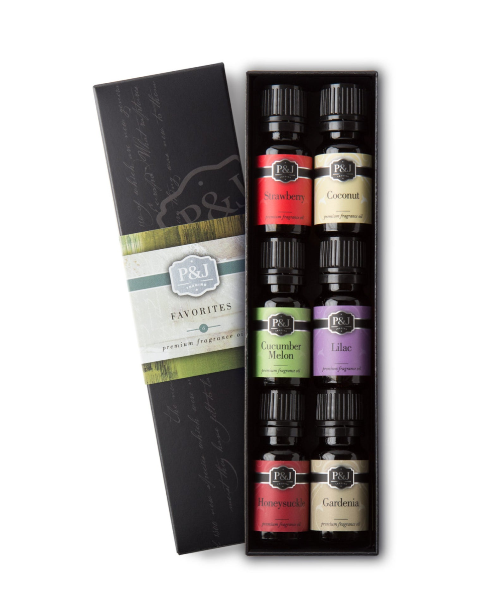 Favorites Set of 6 Premium Grade Fragrance Oils Strawberry
