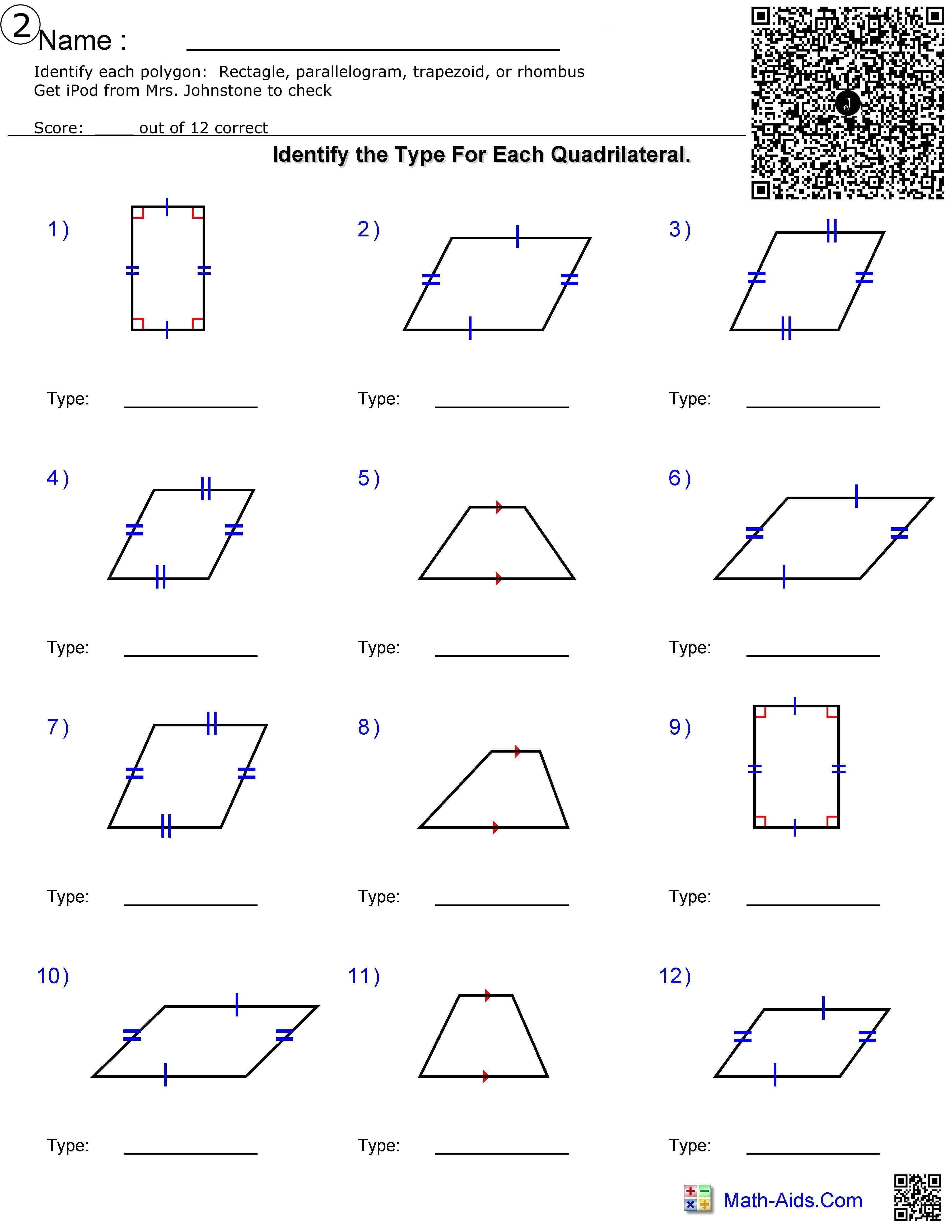 Geometry Choice Board