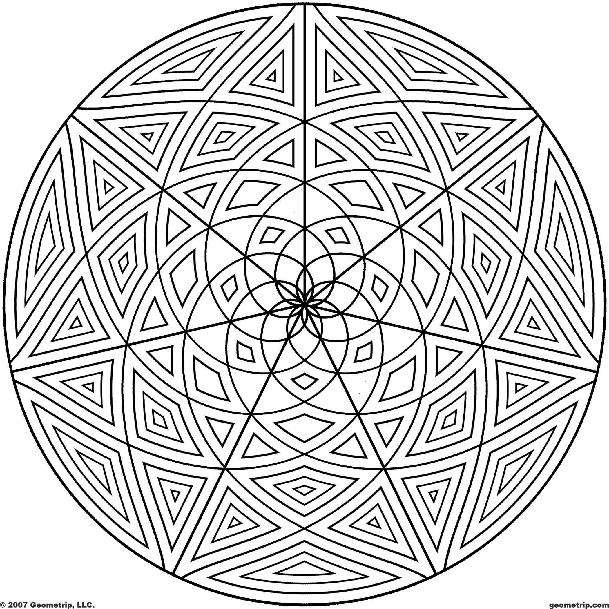 Geometric Page Pattern Coloring Sheets | Geometrip.com - Free ...