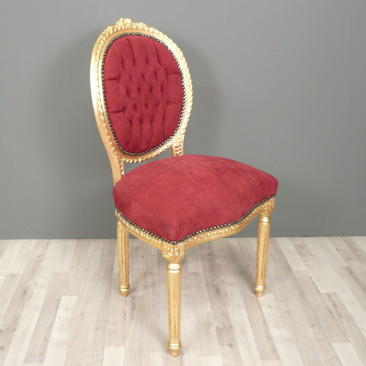 chaise louis xvi rouge chaise louis