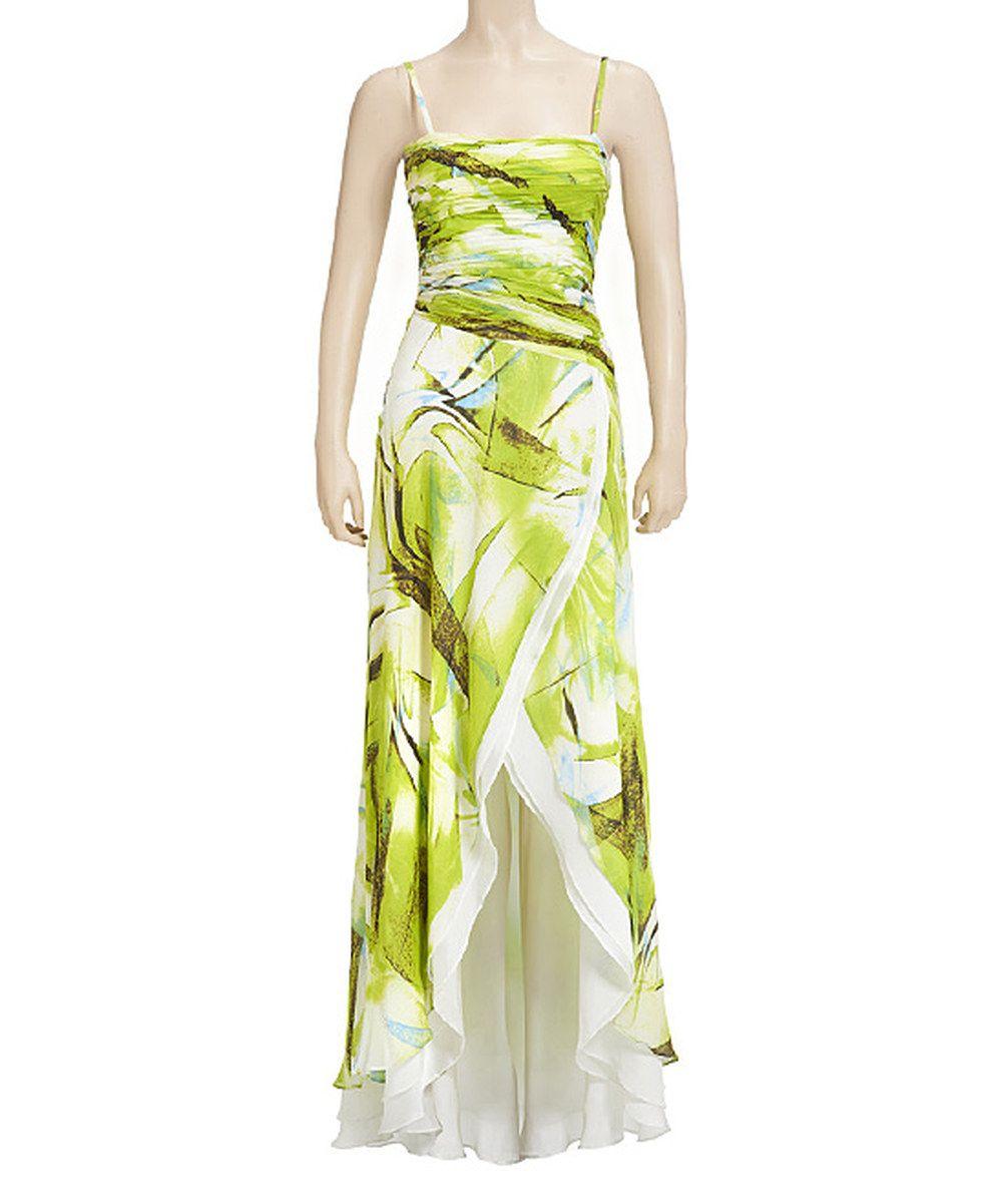 Nina Austin Green Ruched Silk Gown - Women by Nina Austin #zulily #zulilyfinds