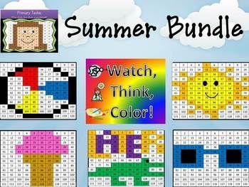Summer Bundle Watch, Think, Color Games - EXPANDING BUNDLE ...