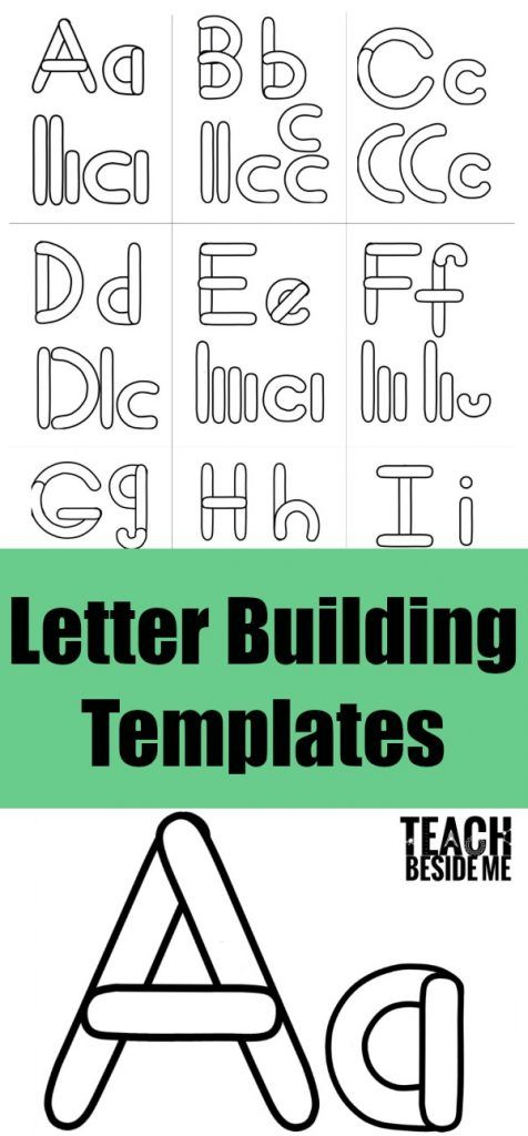 Preschool Alphabet Letter Building Templates Literacy Activities