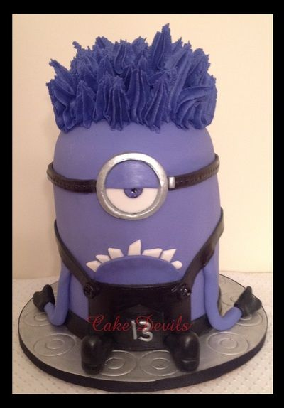 Evil Minion Cake Purple Minion Cake - Perfect for a ...