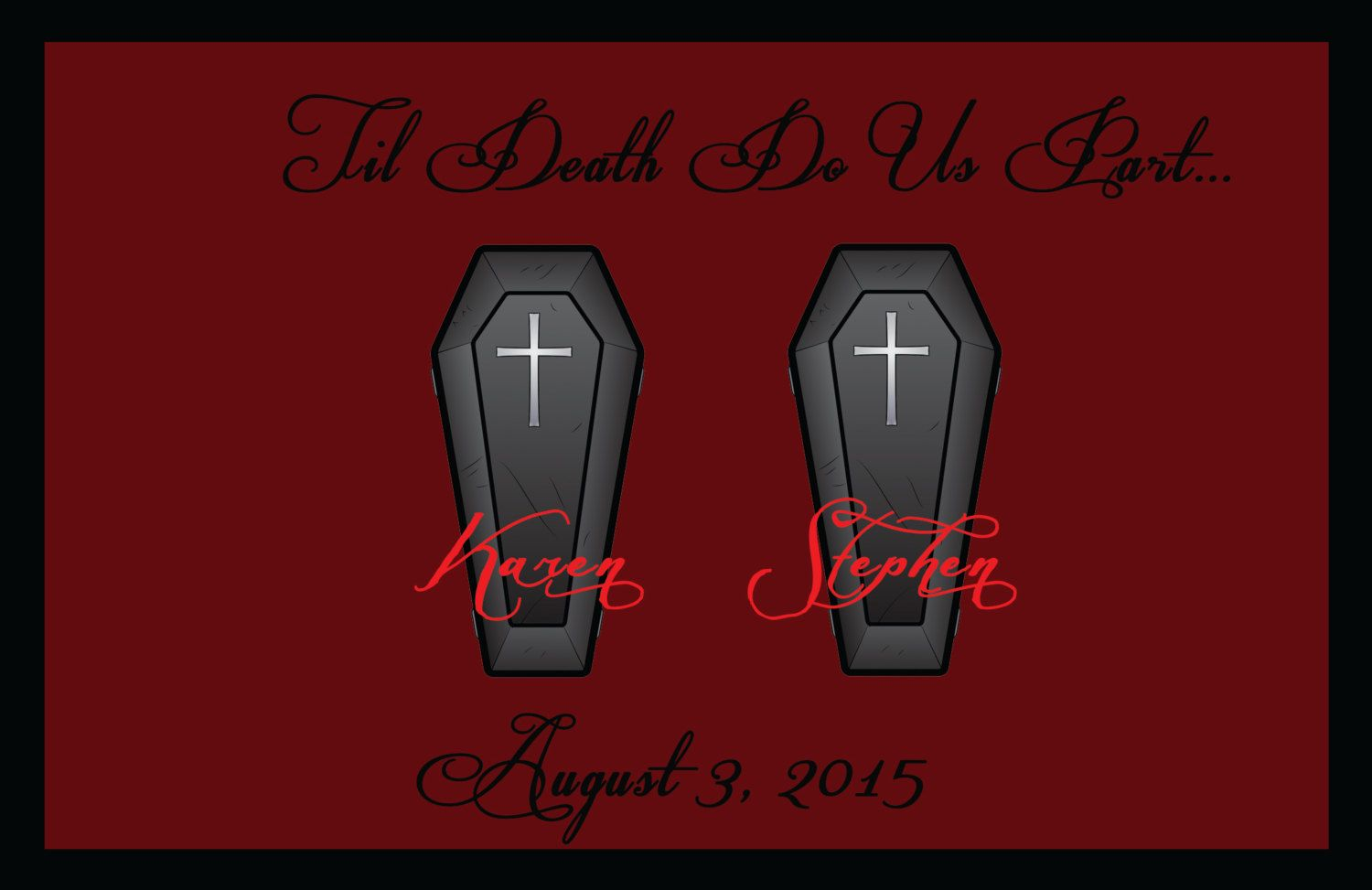 Til Death Do Us Part Save the Date Magnet by EpicureEvents on Etsy ...
