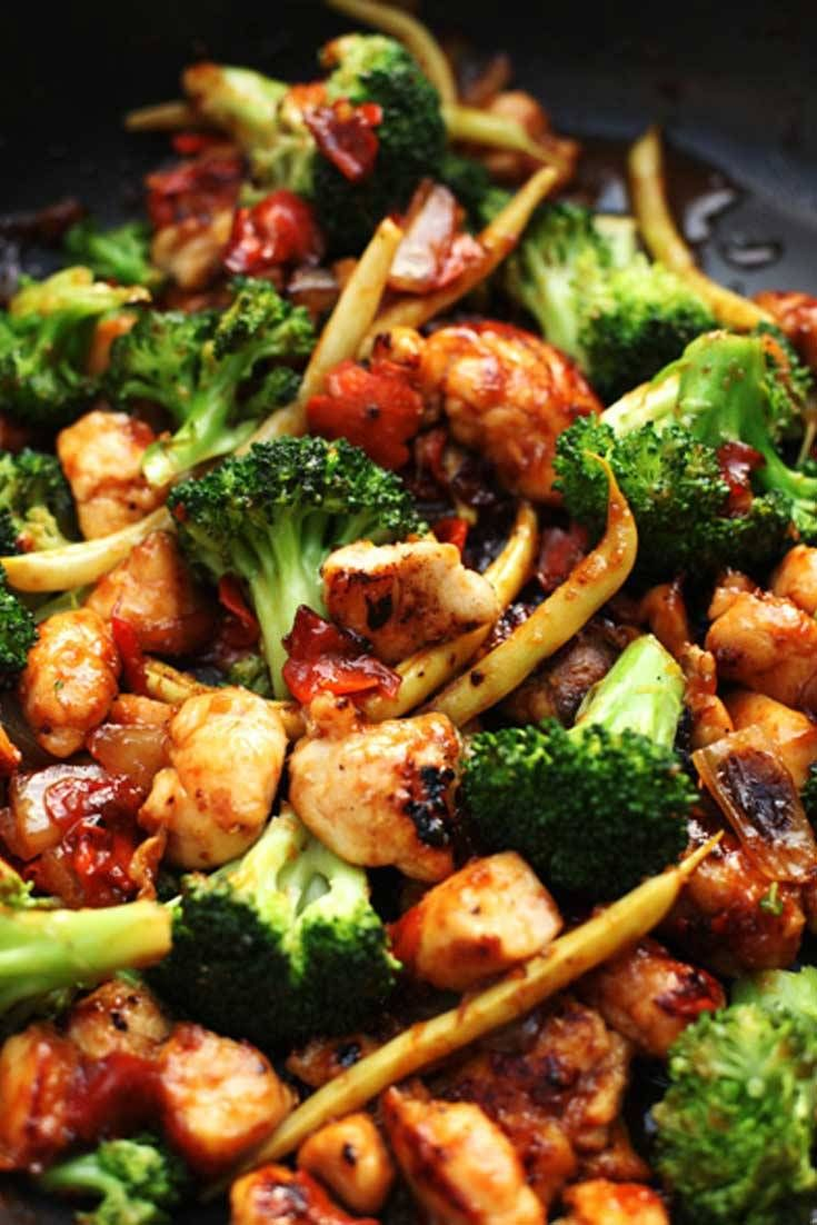 Orange Chicken and Vegetable Stir Fry #chineseorangechicken