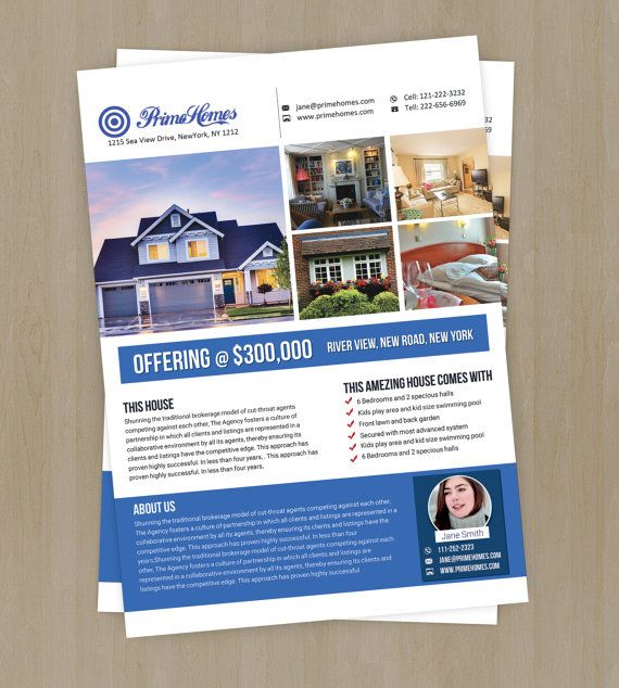 Real Estate Advertising Flyer Template Editable In Ms Word