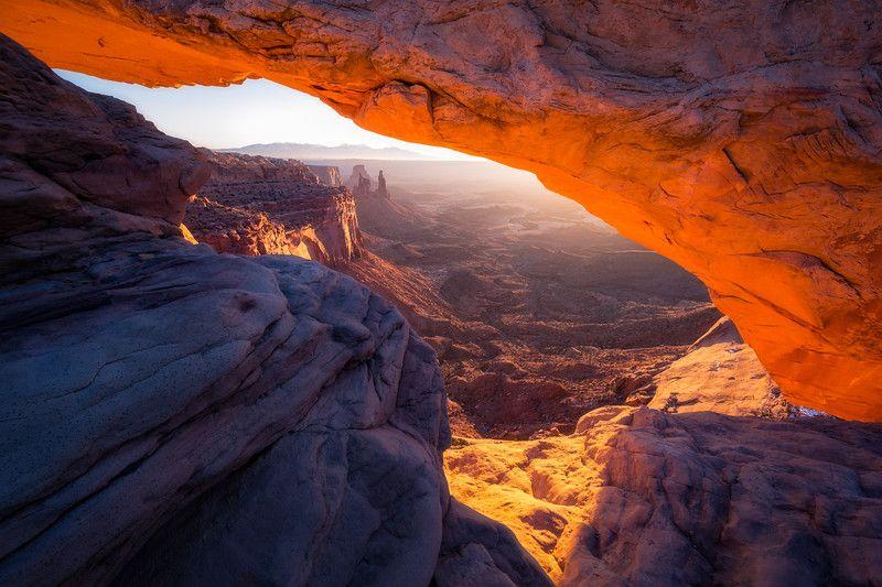 Mesa Arch Landscape, Before sunrise, National parks