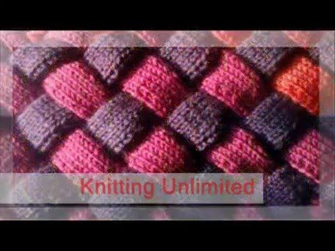 How To Knit Entrelac Beginner Video On Entrelac Knitting From