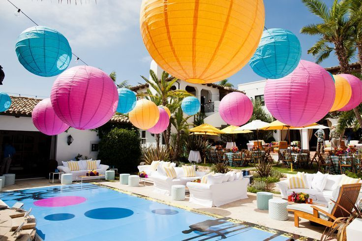 Pool Party Decor Ny Miami Style Pinterest Summer Party