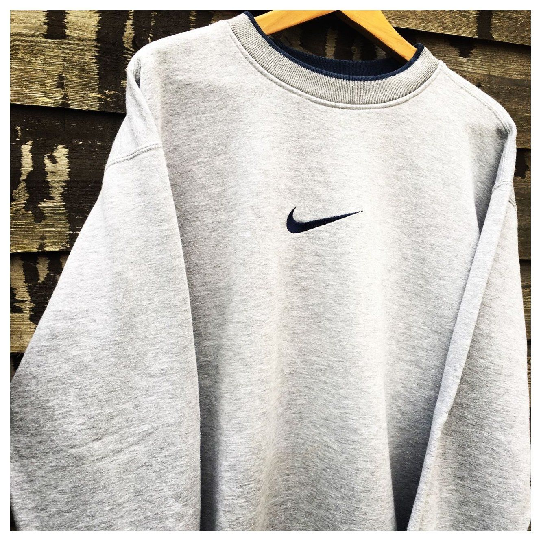 Retro Nike Grey Sweatshirt Size Xl Fits L Xl Depop Vintage Jumpers Retro Vintagejumper Trendy Sweatshirt Vintage Nike Sweatshirt Vintage Hoodies [ 1330 x 1330 Pixel ]