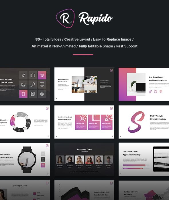 Rapido - Creative Keynote Template Template, Keynote and