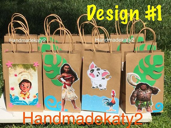 Moana Goody bags or Party Favor Bags (12 pieces) | Lilys