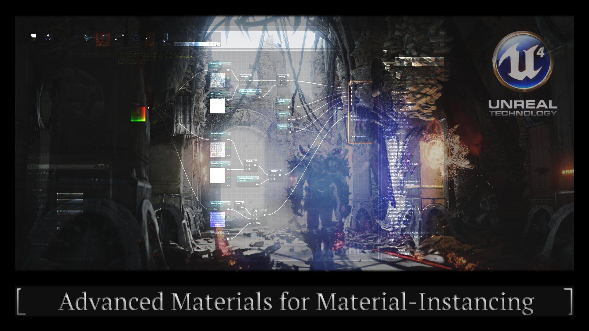 Unreal Engine 4 Advanced Materials Instancing Tutorial