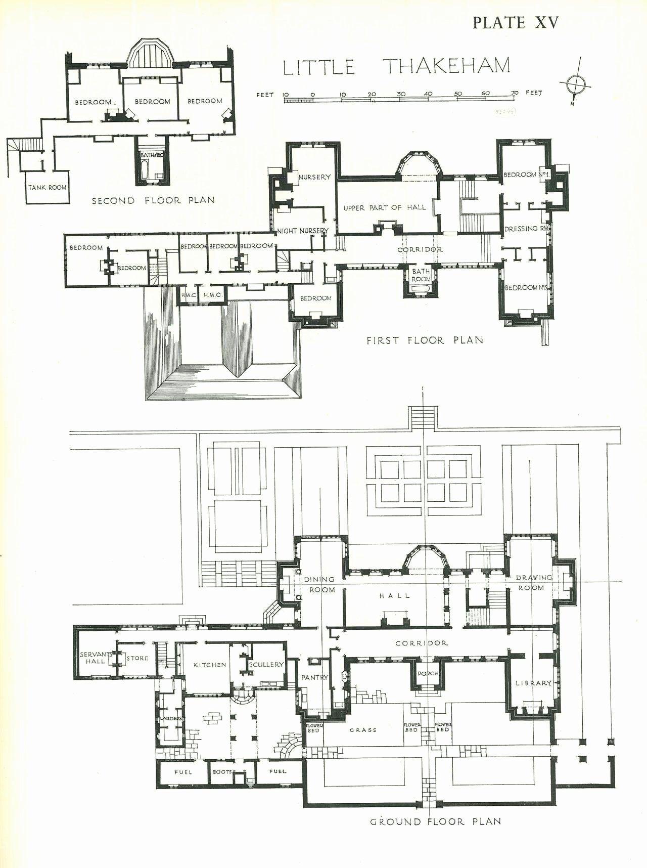 Historic Georgian House Plans Inspirational Little Thakeham Floor Plan 1 280 1 716 Pixels In 2020 House Floor Plans Architectural Floor Plans House Plans