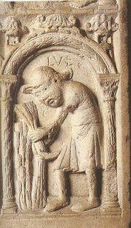Duomo di modena porta della pescheria luglio mostra lo stesso contadino con il largo cappello - Mostra della porta ...