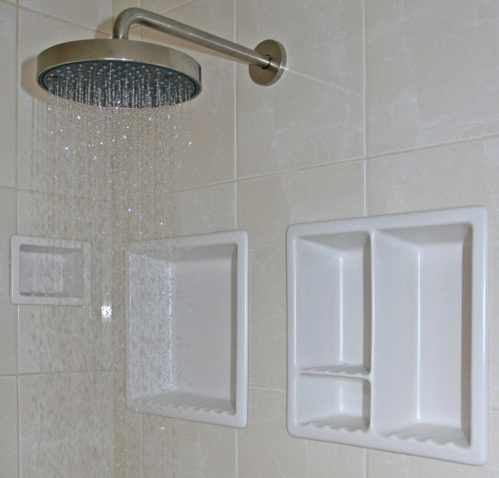 Tile shower shelf ideas lustwithalaugh design recessed shower