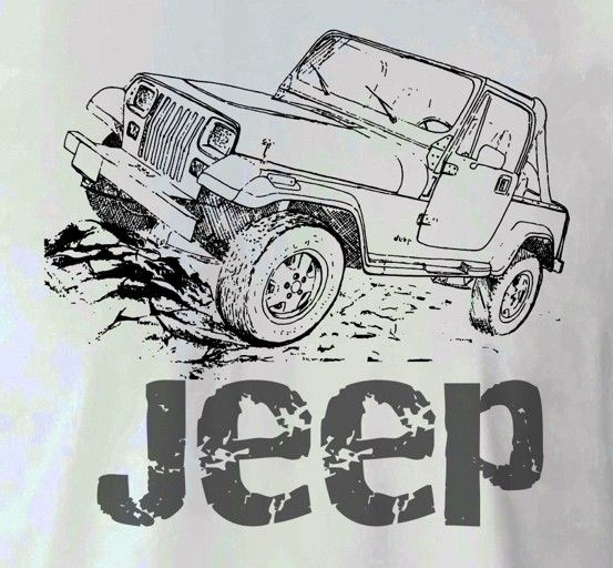 Jeep Wrangler Drawing T Shirt SMLXL by TJaysTees on Etsy, $18.00 ...