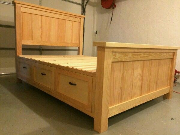 Best Woodwork Diy Farmhouse Bed Diy Bed Frame Bed With Drawers 640 x 480