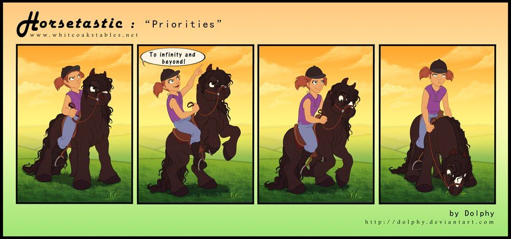 """""""To infinity and beyond!"""" horse comic"""