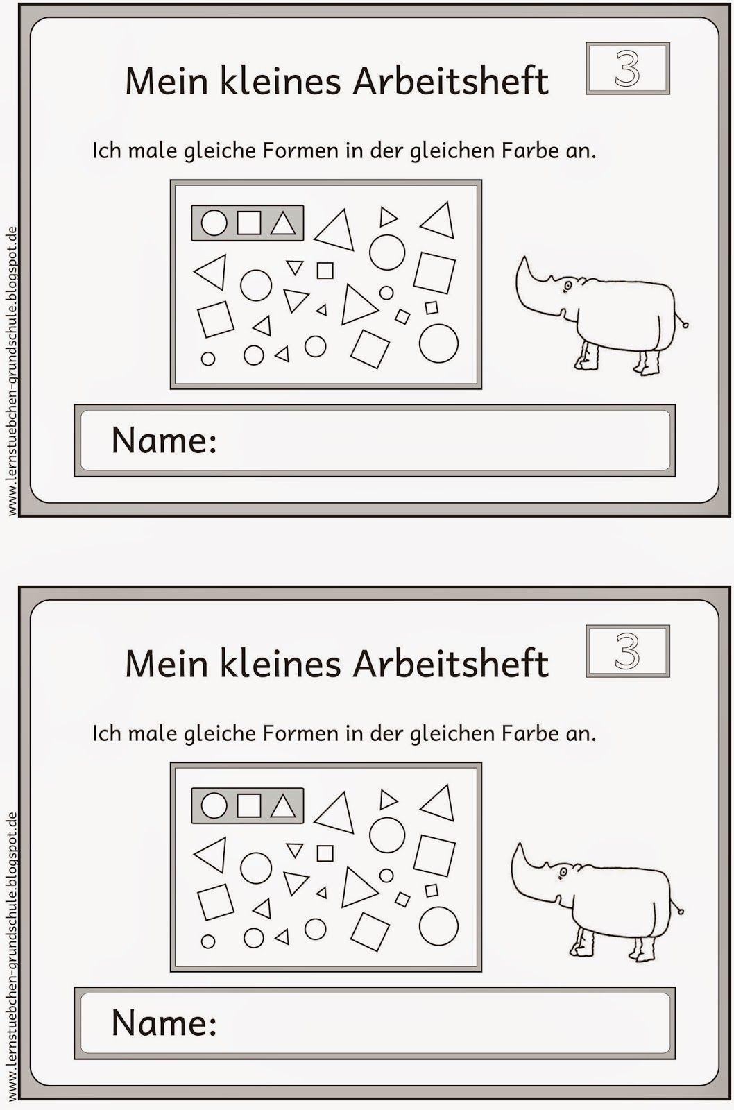 gleiche Formen gleich anmalen (3) | Kindergarten, Math and School
