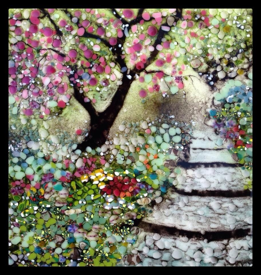 Japan Garden: Cherry Blossom Path   Delphi Artist Gallery