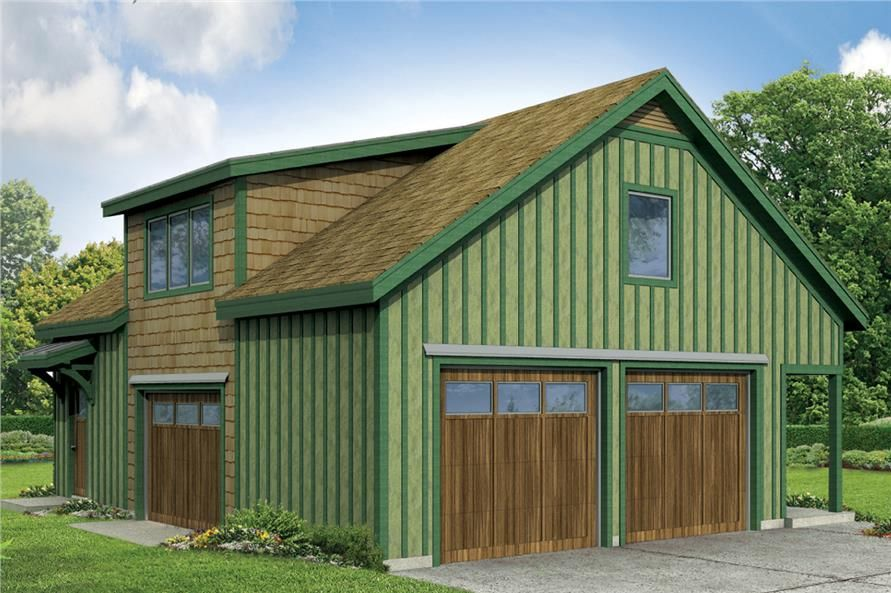 Cottageplan 108 1778 2 Bedrm 2 Car Garage Theplancollection Carriage House Plans Garage Apartments Garage Door Design